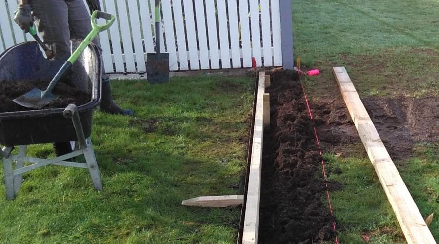 The Garden Edging Saga part 3
